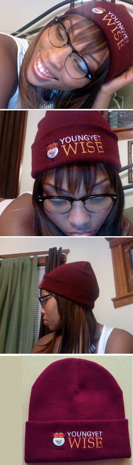 maroon young yet wise hats