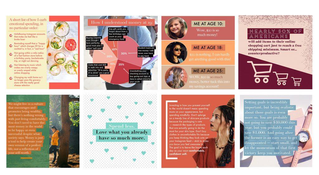 Instagram design samples